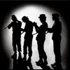Droogs in silhouette
