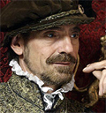 Jeremy Irons in costume