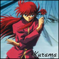 Kurama holding a rose